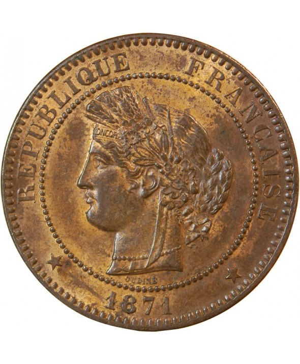CERES - 10 CENTIMES 1871 A PARIS - Petit A