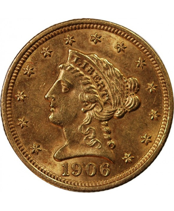 2,5 DOLLARS OR 1906 USA Liberty