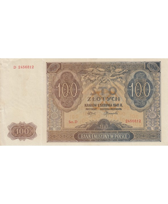 100 Zlotych 1941 - Marron, Eglise