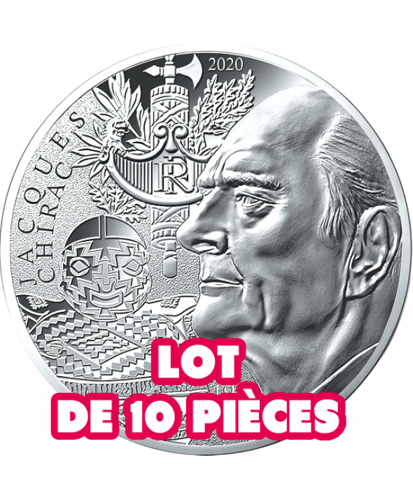 Jacques CHIRAC - LOT de 10 X 10 Euros Argent 2020 FRANCE (MDP)