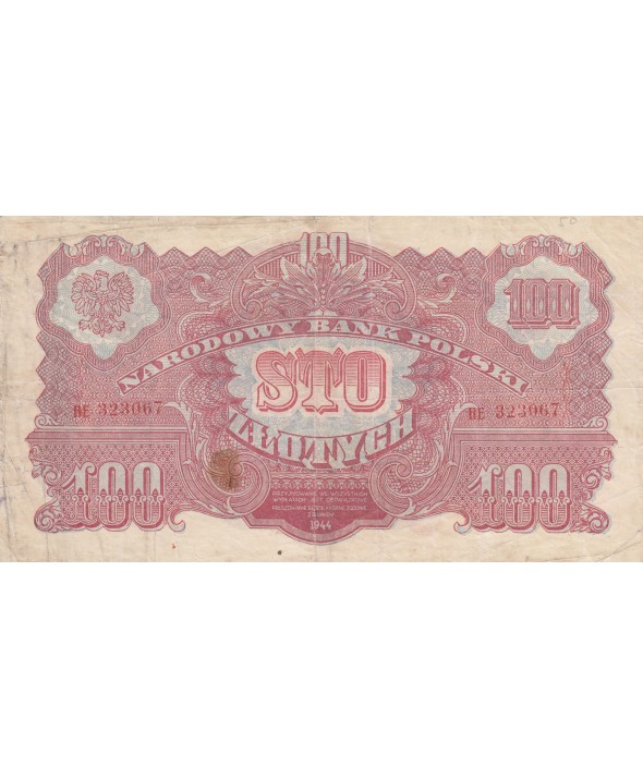 100 Zlotych 1944 - Rouge