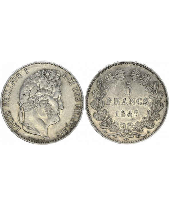 5 Francs, Louis-Philippe 1er - 1847 A Paris