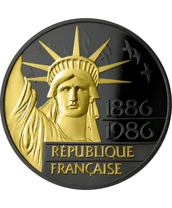 Liberté RUTHENIUM & OR - 100 Francs 1986 Argent France