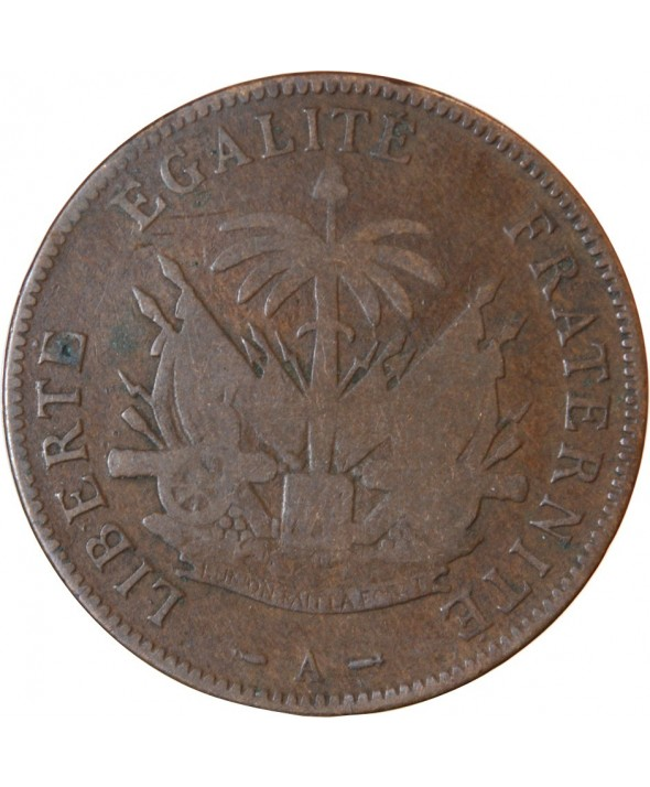HAITI - 2 CENTIMES 1894 A PARIS