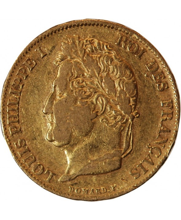 LOUIS PHILIPPE - 20 FRANCS OR 1836 W LILLE