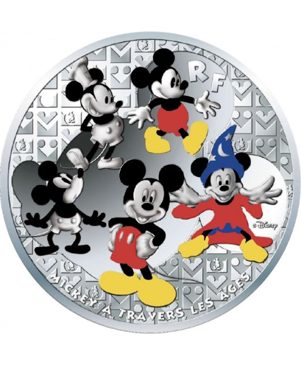 MICKEY A TRAVERS LES AGES - 50 Euros 5 Oz Argent BE FRANCE 2016 (MDP)