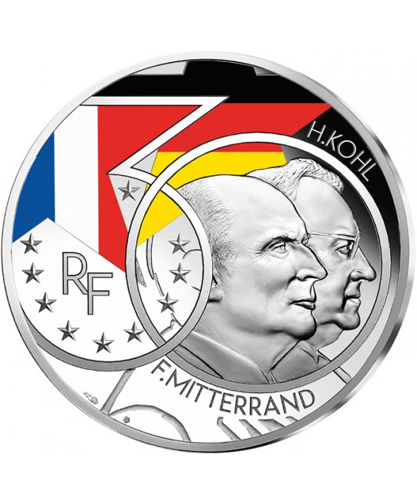 Mitterrand - Kohl - Couple Franco-allemand - 10 Euros Argent BE 2020 FRANCE (MDP)