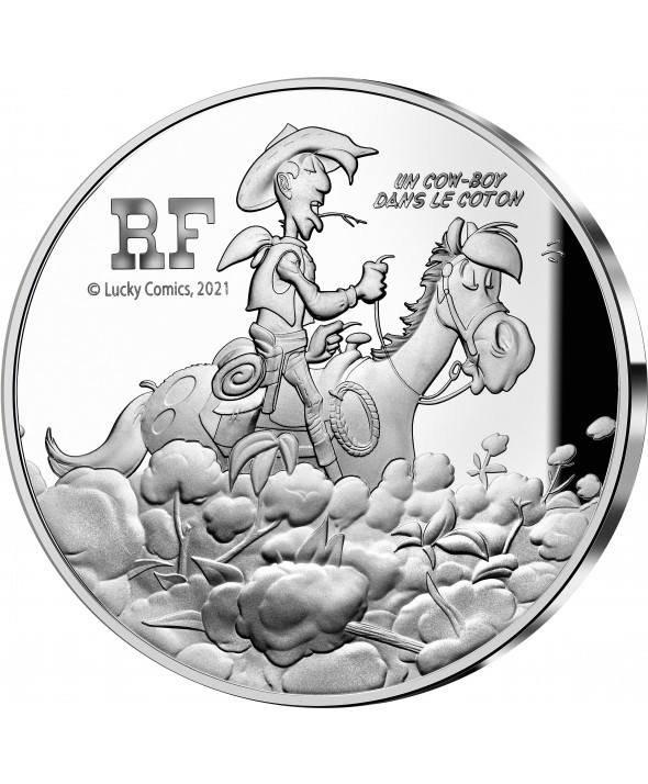 Lucky Luke - 10 Euros Argent BE FRANCE 2021