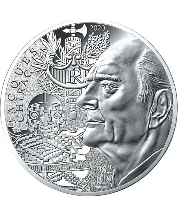 Jacques CHIRAC - 10 Euros Argent 2020 FRANCE (MDP)