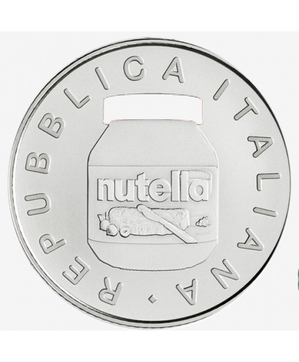 Nutella - version Blanche - 5 Euros Argent Couleur ITALIE 2021 - Excellence italienne