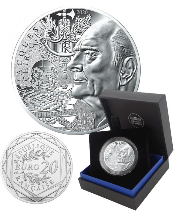 Jacques CHIRAC - 20 Euros Argent BE 2020 FRANCE (MDP)