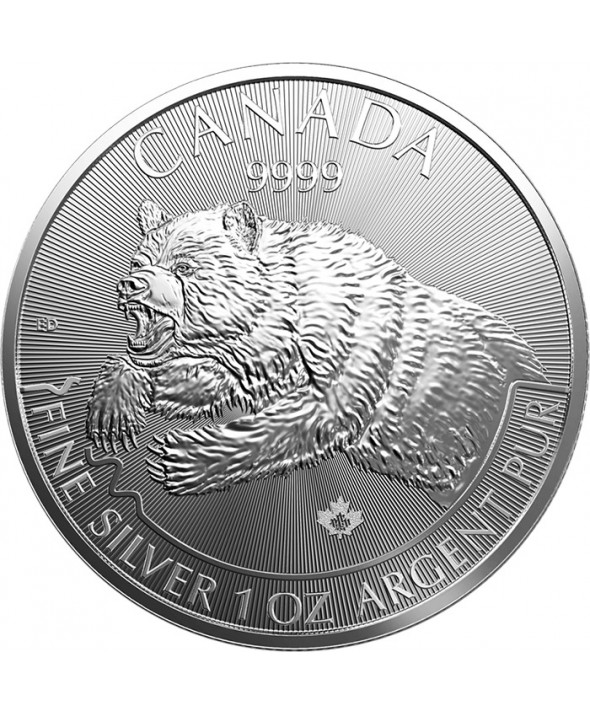 Le Grizzly - 1 Once Argent CANADA 2019