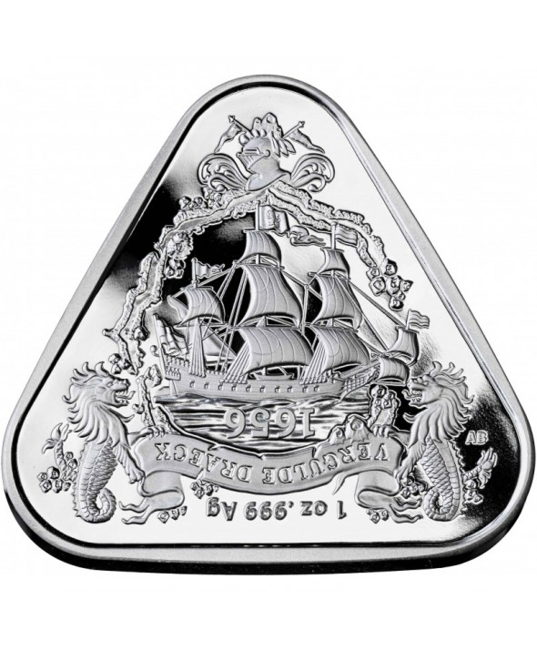 Dragon d'or - 1 Once Argent Triangle Australie 2020