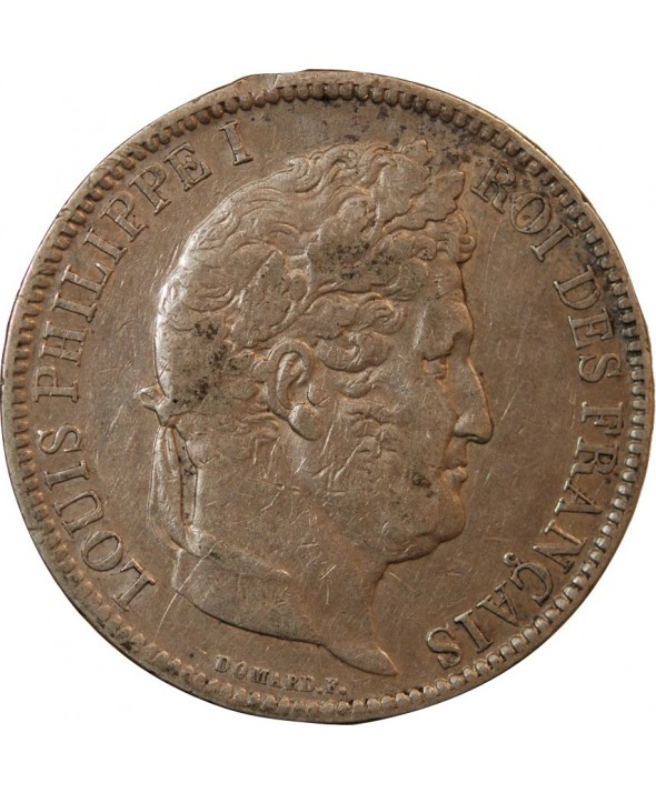 """LOUIS PHILIPPE - 5 FRANCS ARGENT 1831 W LILLE """"Type Domard, Tr relief"""""""