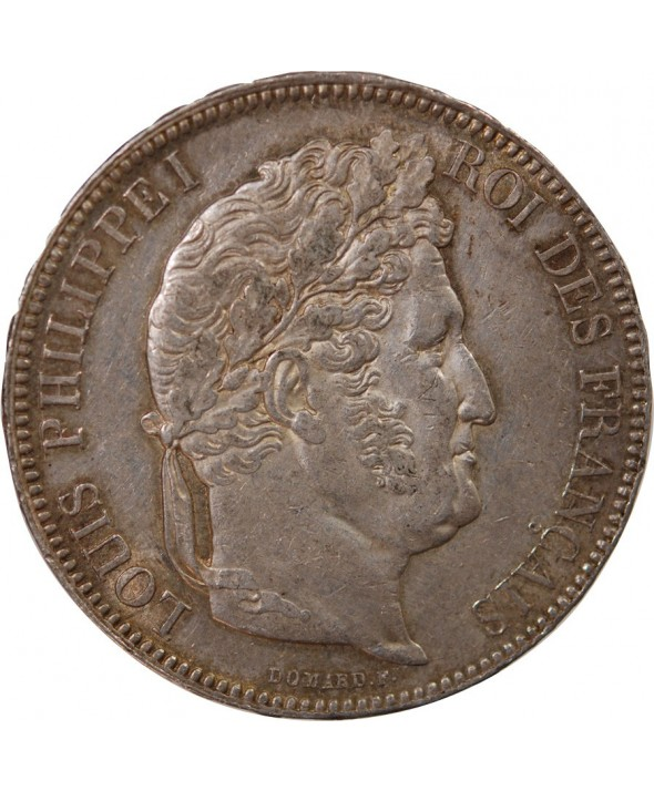 """LOUIS PHILIPPE - 5 FRANCS ARGENT 1842 W LILLE """"Type Domard, Tr relief"""""""
