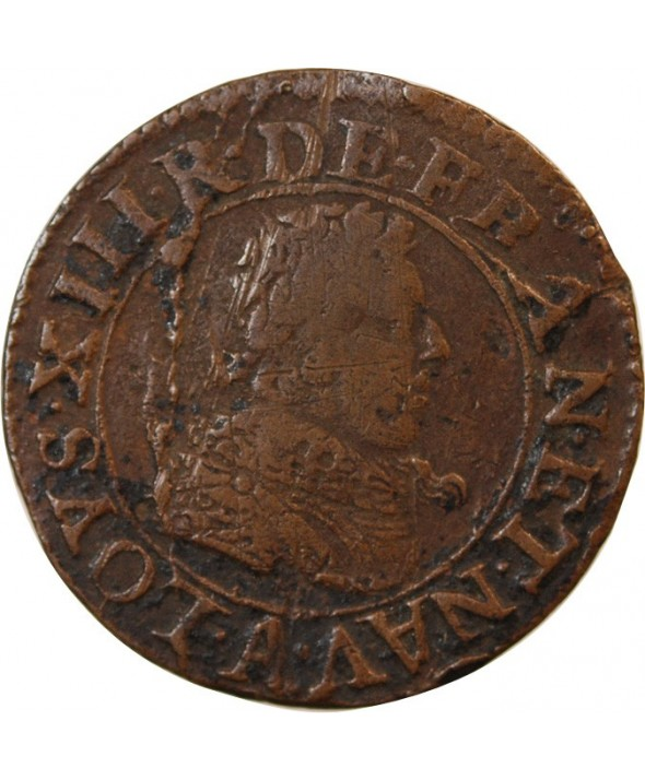 LOUIS XIII - DOUBLE TOURNOIS 1627 A PARIS