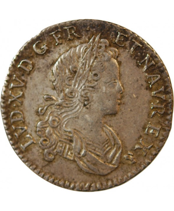 LOUIS XV - 1/6 ECU FRANCE NAVARRE 1719 D LYON