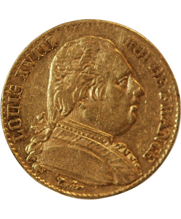 LOUIS XVIII - 20 FRANCS OR 1815 B ROUEN