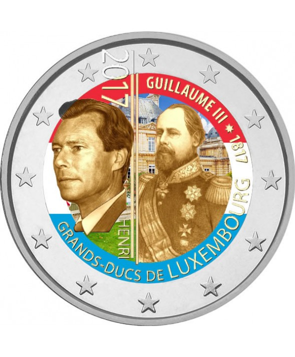 2 Euros Commémo. couleur LUXEMBOURG 2017 - 200 ans Guillaume III