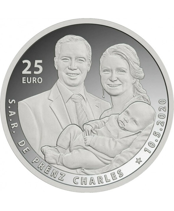 25 euros Argent Luxembourg 2020 - Naissance du Prince Charles