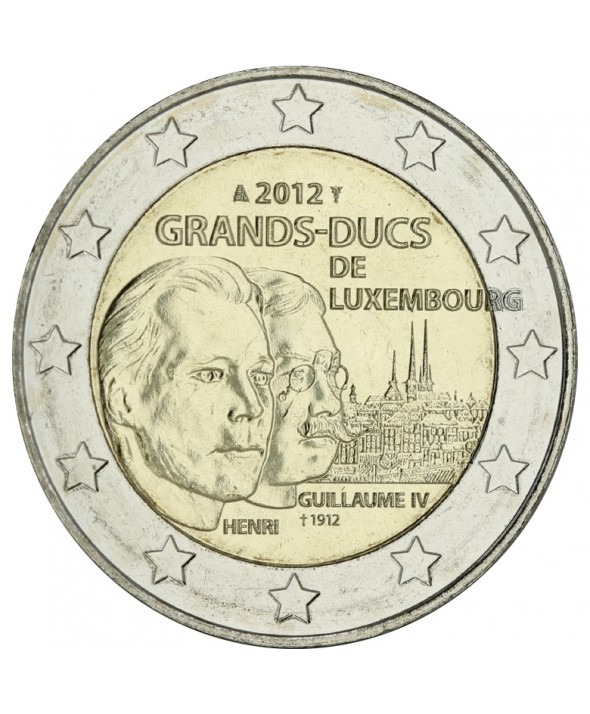 2 Euros Commémo. LUXEMBOURG 2012 - Grand-Duc Guillaume IV