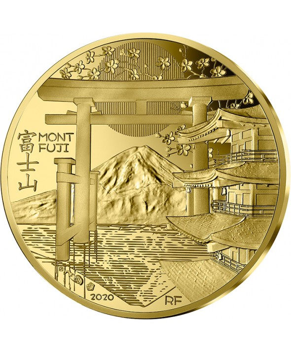 Le Mont Fuji - 200 Euros Or (1 Oz) BE FRANCE 2020 (MDP)