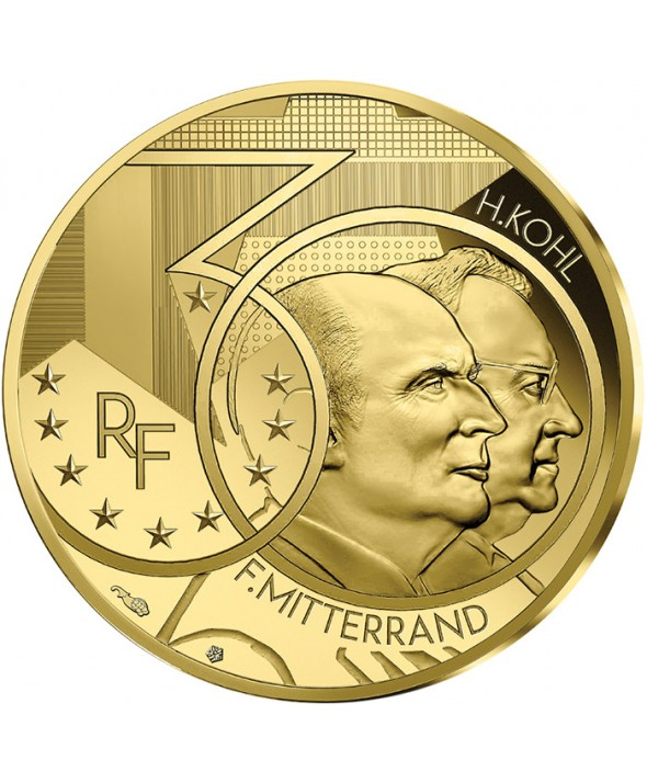 Mitterrand - Kohl - Couple Franco-allemand - 50 Euros OR (1/4 Oz) BE 2020 FRANCE (MDP)