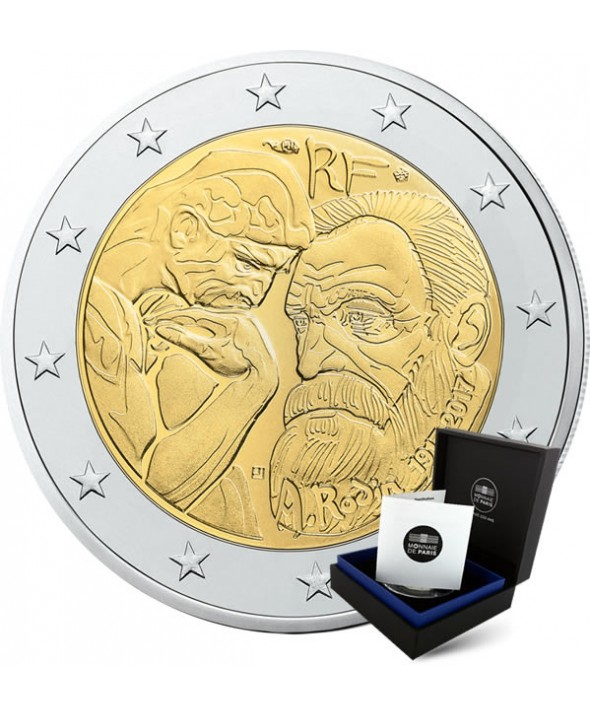2 Euros Commemo France 2017 Be Auguste Rodin