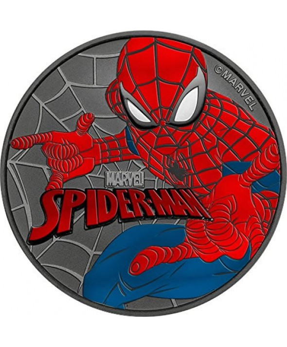 SPIDERMAN - 1 Once Argent Couleur TUVALU 2017