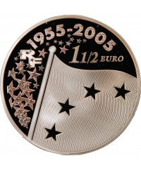 FRANCE, EUROPA - 1,50 EURO ARGENT 2005 BE