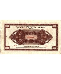 1000 Francs, Marron, Impr Américaine - 01-08-1943