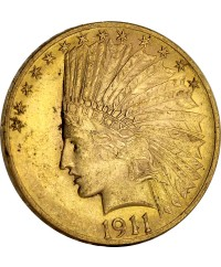 10 DOLLARS INDIAN HEAD USA OR 1911 PHILADELPHIE