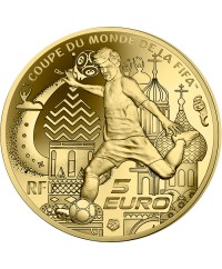 COUPE DU MONDE FOOTBALL FIFA RUSSIE 5 Euros Or BE FRANCE 2018 (MDP)