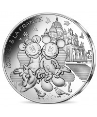 50 Euros Argent France 2018 - Mickey et Minnie à Montmartre, Mickey et la France (Vague 2)
