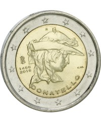 2 Euros Commémo. ITALIE 2016 - Donatello