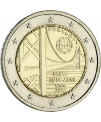 2 Euros Commémo. PORTUGAL 2016 - Pont du 25 avril
