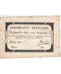 250 Livres, 7 Vendemiaire An II - 28.9.1793 - Sign. Marcilly