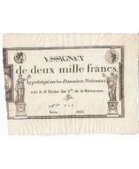 2000 Francs, 18 Nivose An III - 7.1.1795 - Sign. Aze
