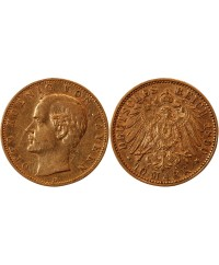 ALLEMAGNE, BAYERN, OTTO - 10 MARK OR 1890 D
