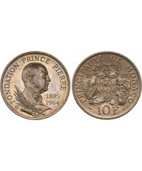 10 Francs Fondation Prince Pierre - 1989