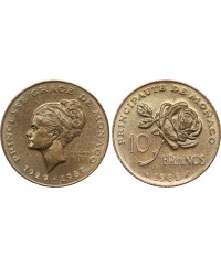 10 Francs Princesse Grace - 1982