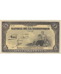 Martinique 25 Francs, Agriculture - 1943 Série E.6