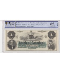 1 dollar, Bank of América, Providence - 1860 - PCGS 65OPQ