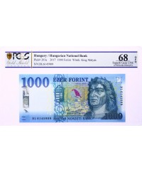 1000 Forint 2017 (2018) - Roi Matyas, Fontaine - PCGS 68 OPQ