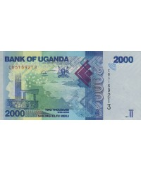 2000 Shillings 2017 - Paysage, poissons