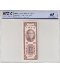 1 Yuan  - Sys - Banque Centrale Taiwan - 1954 - PCGS 65 OPQ