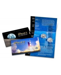 1/2 Dollar Apollo 11 et 1/2 Dollar Kennedy 2019 - Coffret 2 monnaies FDC