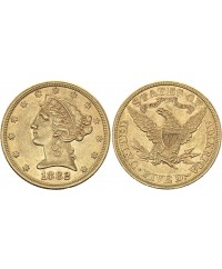 5 Dollars Liberty - Aigle Coronet Head - 1882 Or