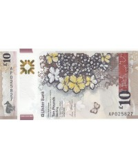 10 Pounds Ulster Bank - Fleurs - Polymer 2018 (2019) - Neuf