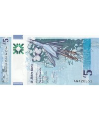 5 Pounds Ulster Bank - Fleurs - Polymer 2018 (2019) - Neuf